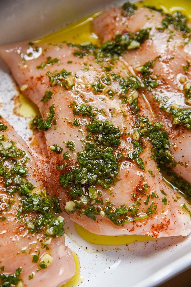 Oven baked Chimichurri Chicken recipe