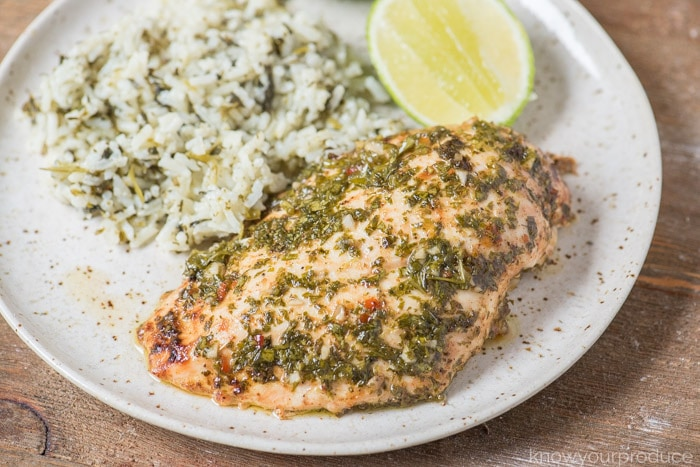 chicken with chimichurri sauce