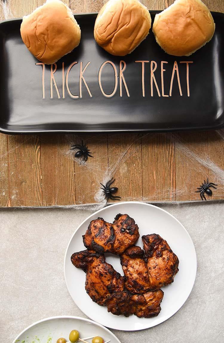 Halloween Appetizer Sliders Assemble