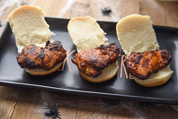 Halloween Appetizer Sliders Chicken Thighs