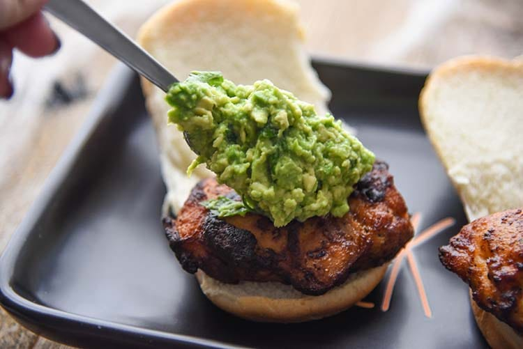 Halloween Appetizer Sliders Guacamole