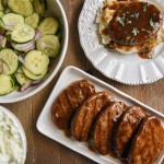 Cucumber Onion Salad with Salisbury Steak
