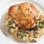 Garlic Chicken Thighs with Rice