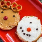 English Muffin Snowman English Muffin Reindeer