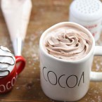 Hot Cocoa with Hot Chocolate Whipped Cream