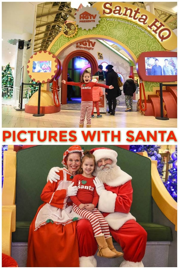 pictures with Santa at Santa's HQ