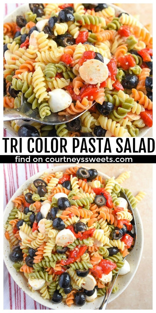 tri color pasta salad summer salad recipe