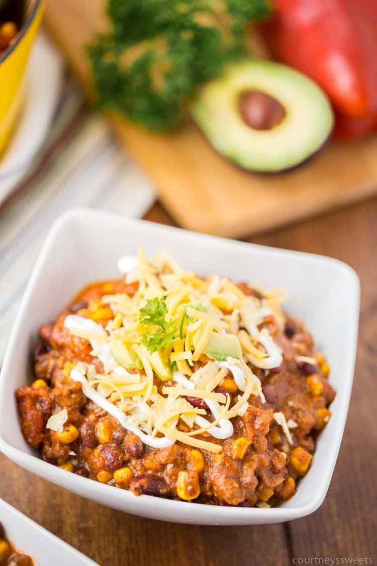 recipe for chili - beef chili