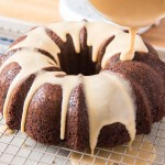 Chocolate Bundt Cake with Coffee Glaze