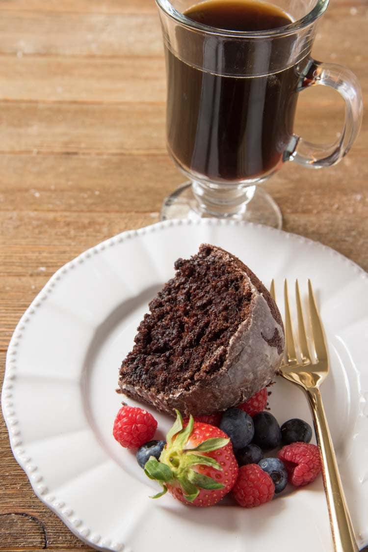 coffee chocolate cake