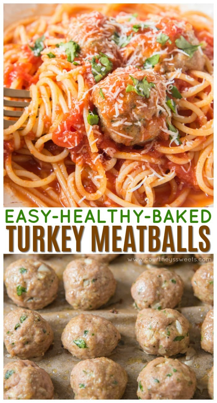 baked turkey meatballs using ground turkey