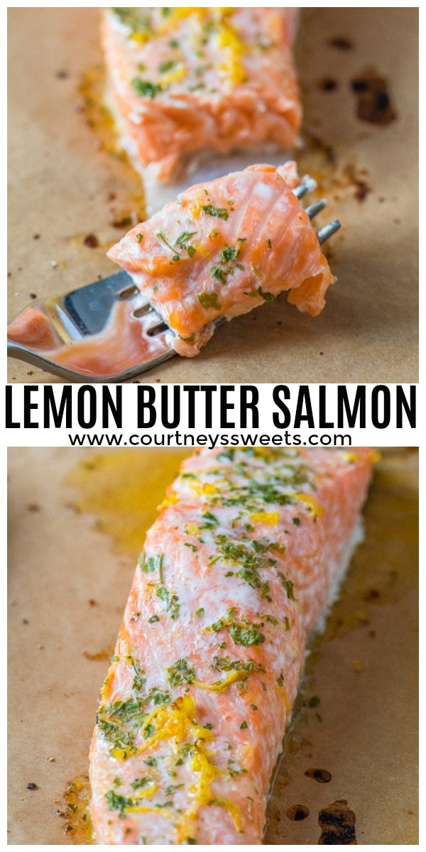 baked lemon butter salmon