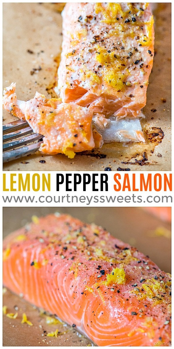 easy baked lemon pepper salmon recipe