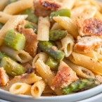 bread chicken asparagus pasta recipe