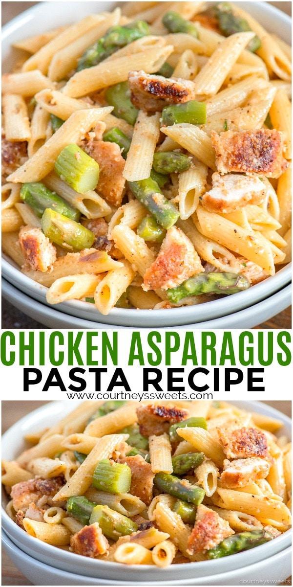 chicken asparagus with pasta