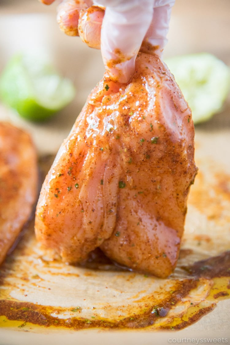 how to marinade chicken for chili lime chicken