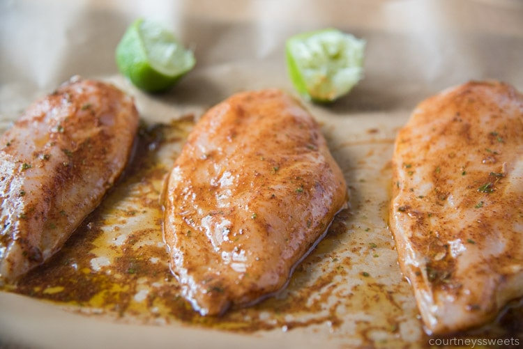 how long to marinade chicken for chili lime chicken