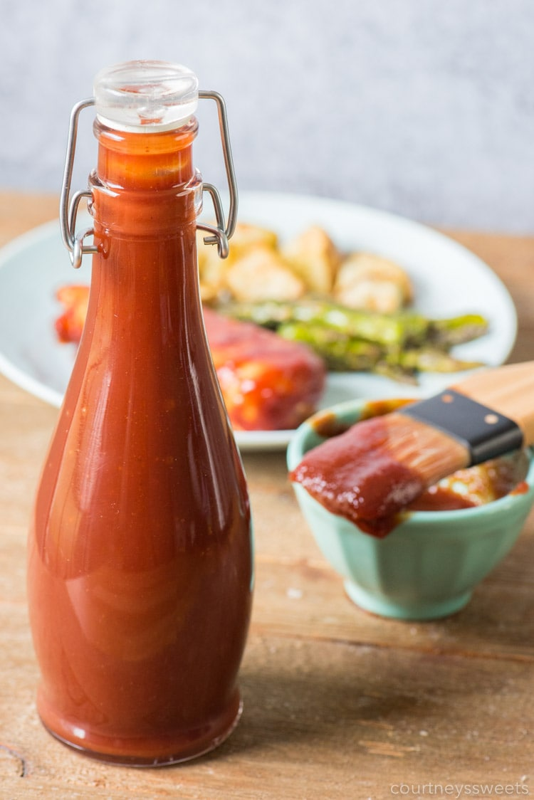 homemade bbq sauce in sealed bottle