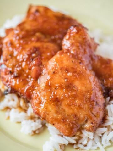 honey garlic chicken thighs