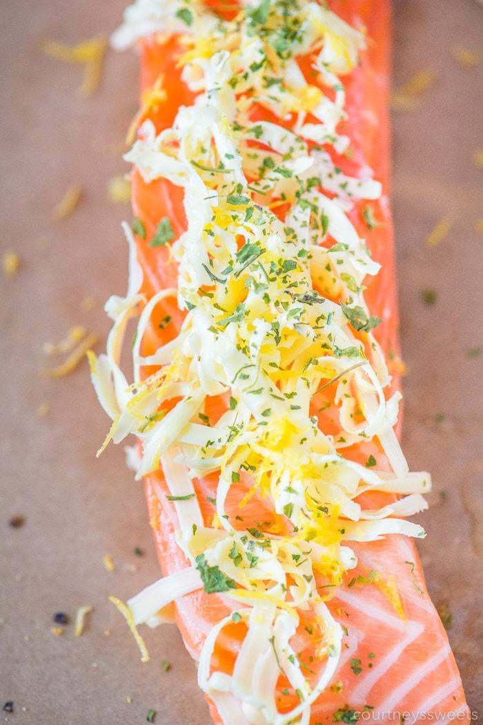 lemon butter salmon wild king salmon