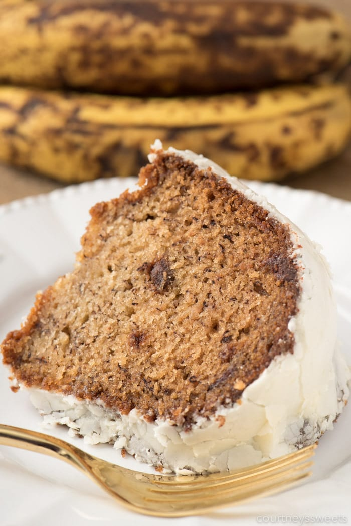 Chocolate Chip Banana Cake Cream Cheese Frosting