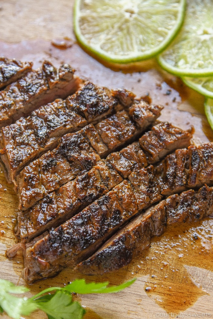grilled flank steak for beef chimichurri