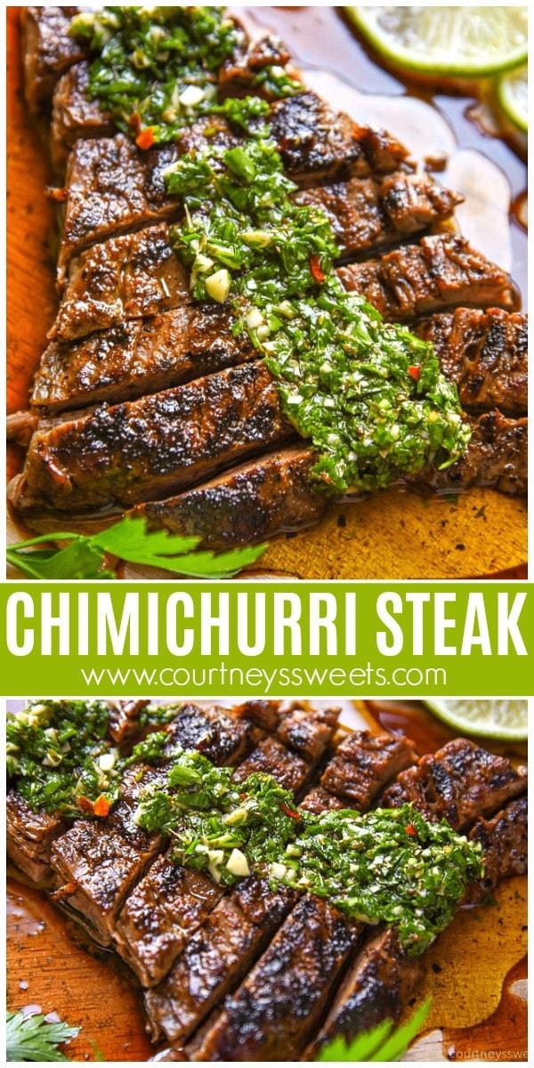 grilled chimichurri steak recipe