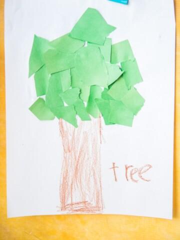 tree craft for preschoolers