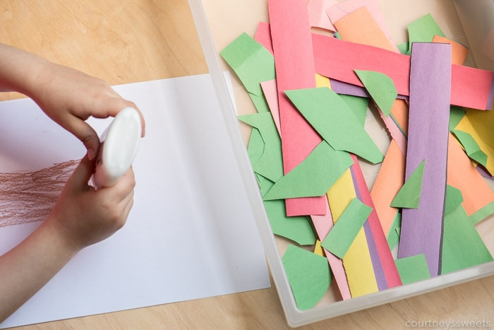 tree craft for preschoolers using scrap paper