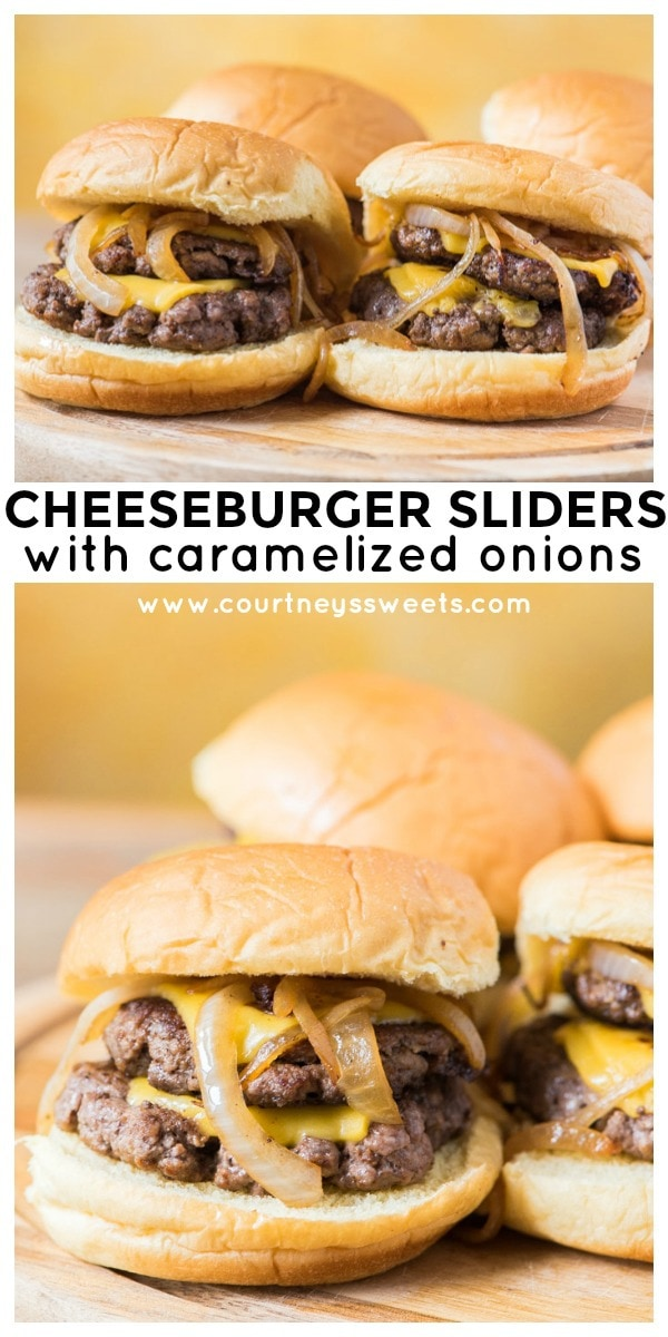 caramelized onion cheeseburger sliders