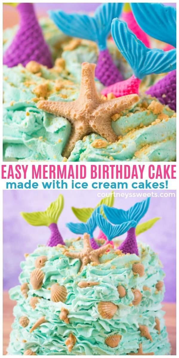 mermaid birthday cake party