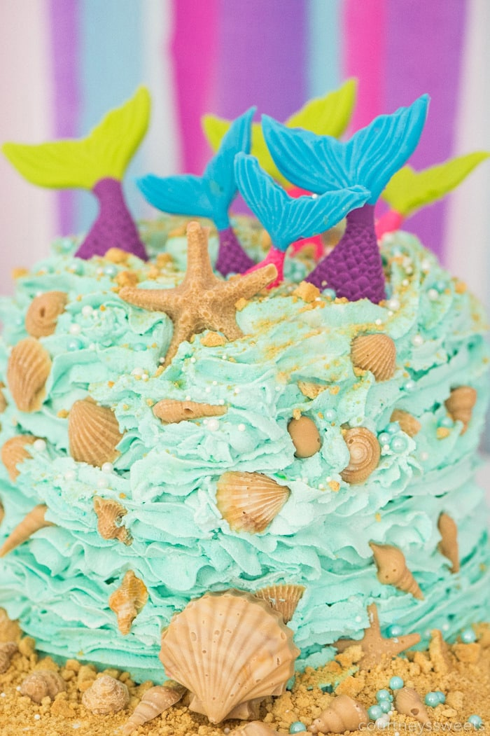 mermaid birthday cake tutorial