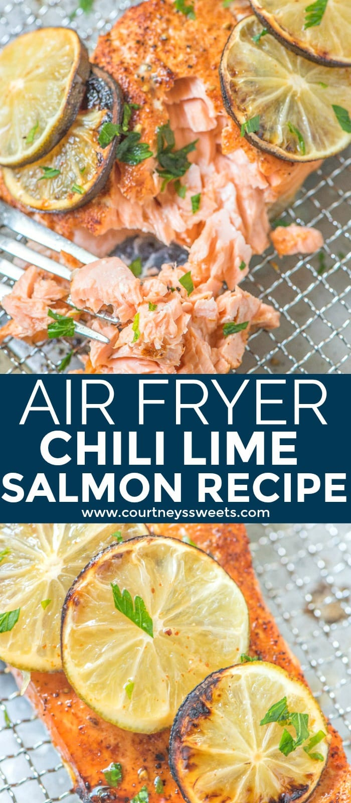 This Air Fryer Salmon recipe is a family favorite! It's full of flavor and a great way to cook chili lime salmon.