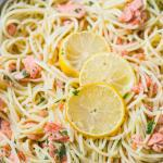 Alaska Salmon Pasta with Lemon Garlic Butter Sauce