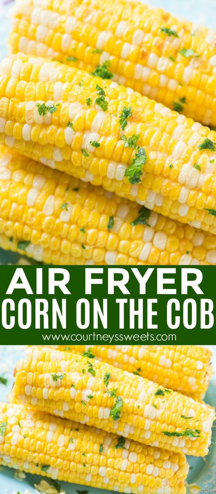 Air Fryer Corn on the Cob is bursting with flavor, sweet, and juicy as can be! Make this with fresh corn for a great side dish recipe.