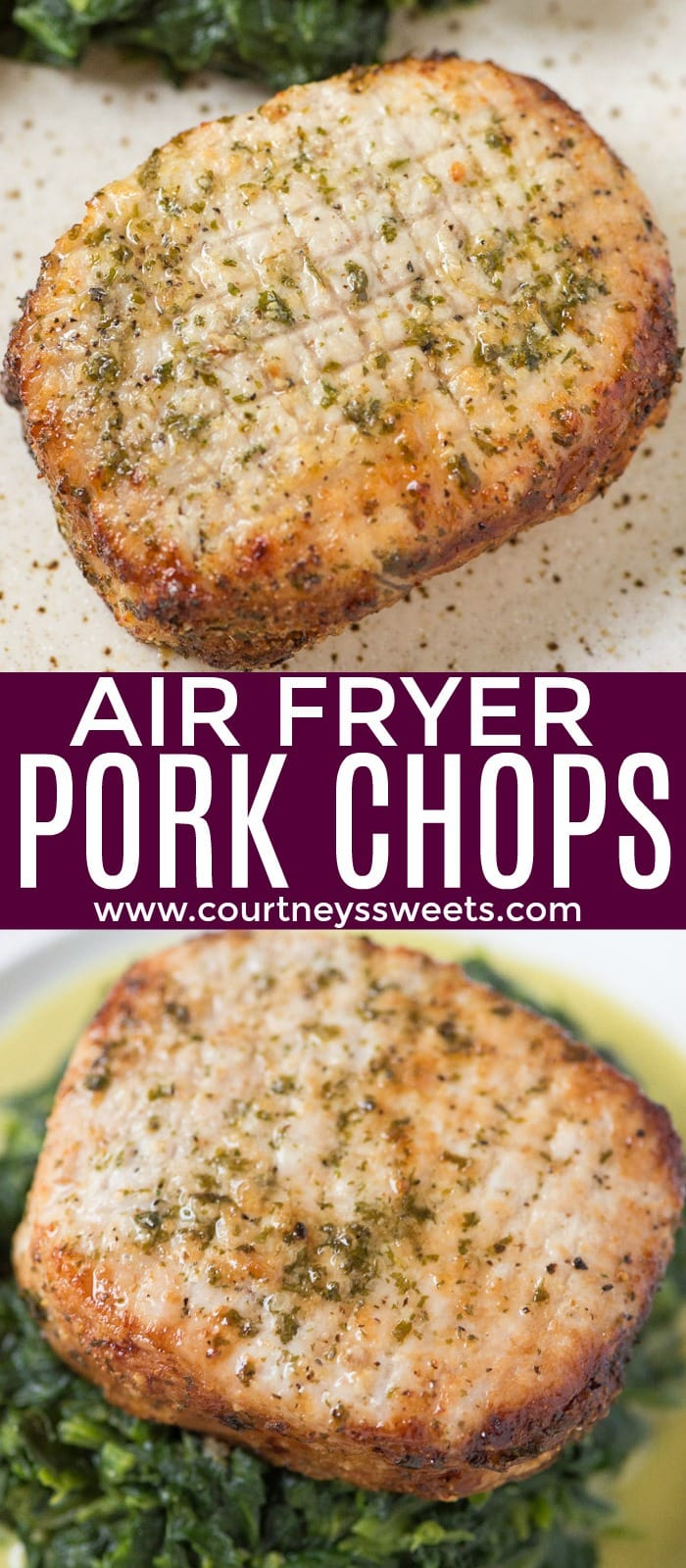 Air Fryer Pork Chops that are so juicy you'll think they came right off the grill! The pork chop seasoning is so good you can use it on any cut of meat.
