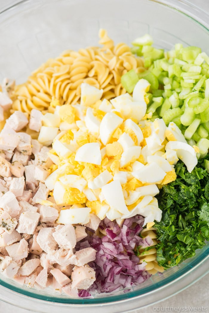 how to make chicken pasta salad