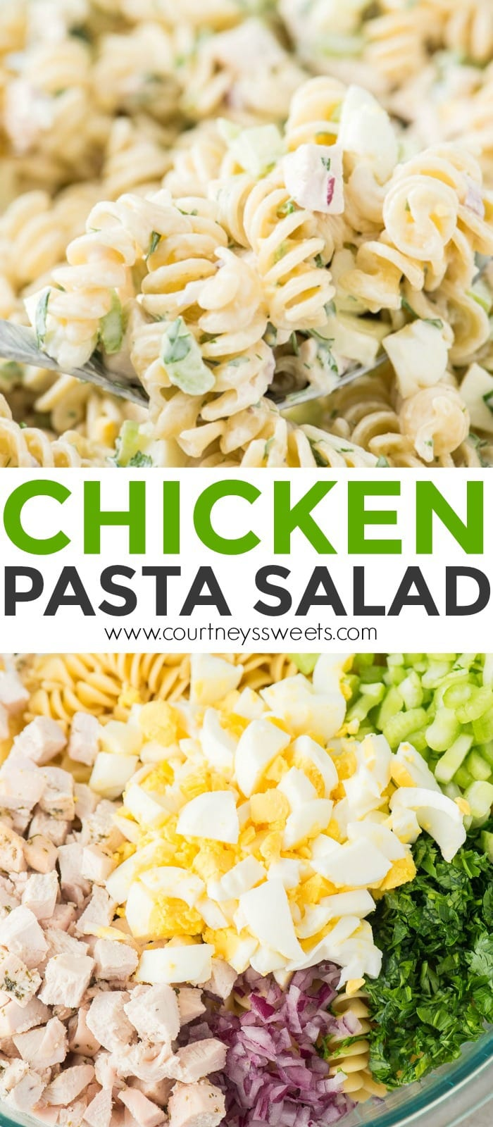 easy chicken pasta salad recipe
