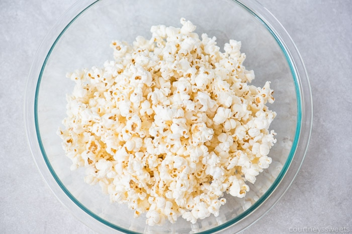 fresh popped popcorn for marshmallow popcorn balls