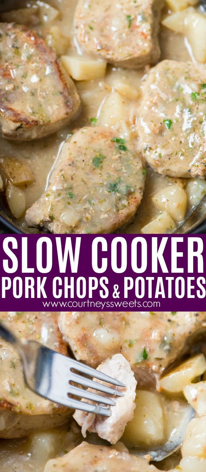 Slow Cooker Pork Chops and Potatoes always makes for a quick and easy slow cooker dinner!