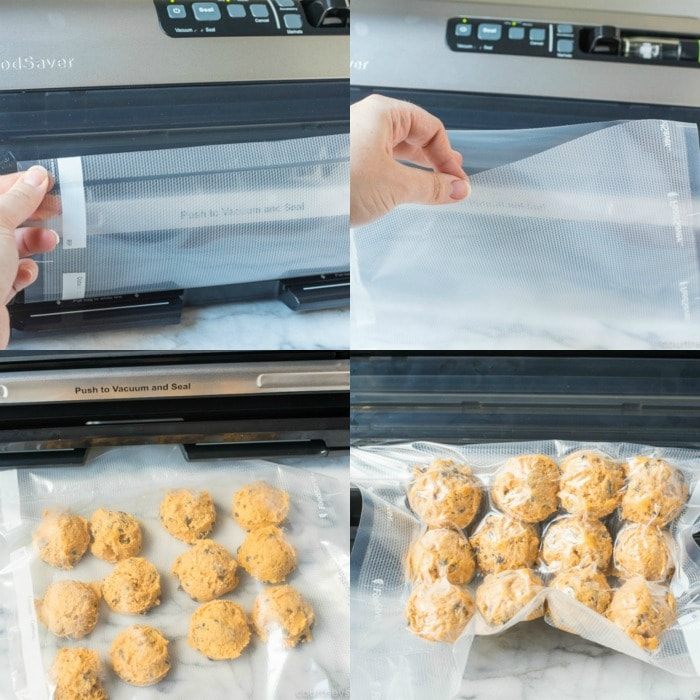 foodsaver system vacuum sealing frozen cooking dough