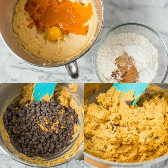 ingredients for pumpkin chocolate chip cookies