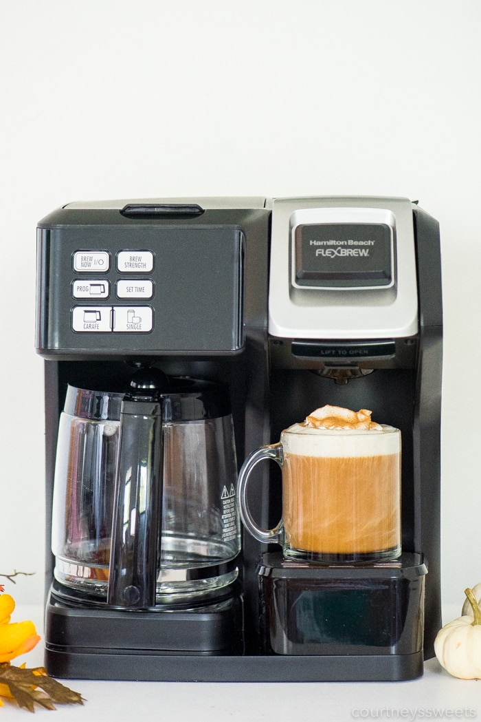 pumpkin spice coffee in hamilton beach flexbrew coffee maker