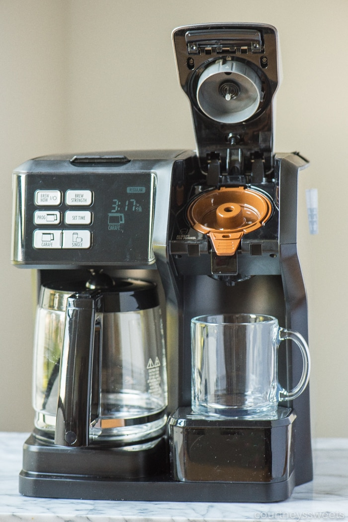 pumpkin spice coffee in the flexbrew coffee maker by hamilton beach