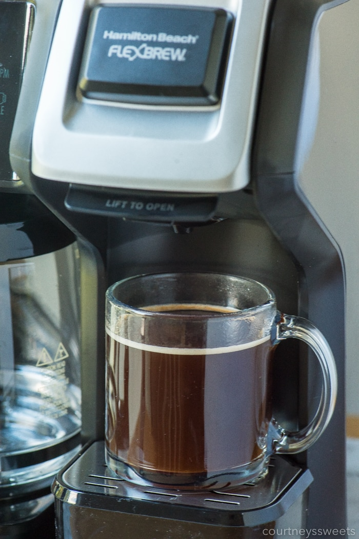 hamilton beach flex brew coffee maker making coffee