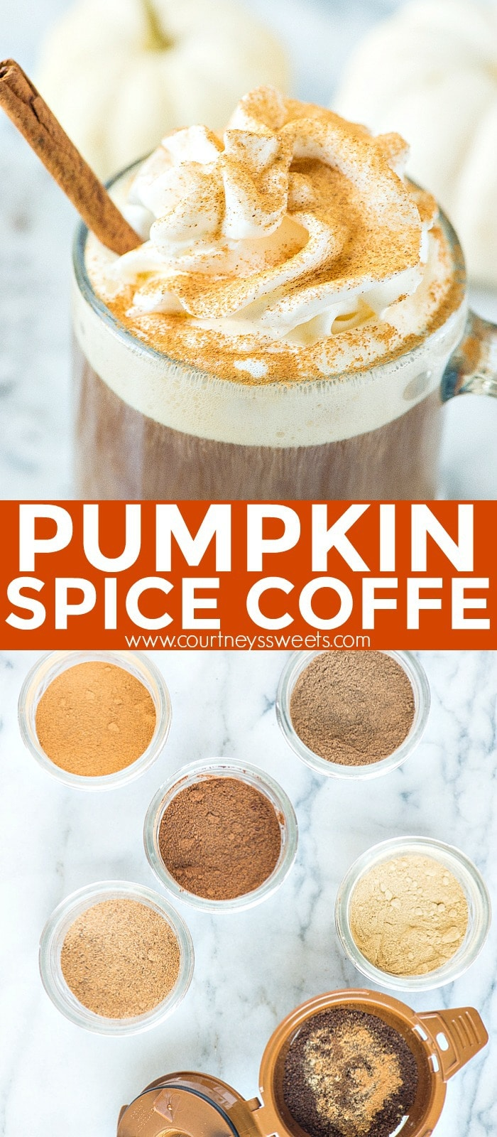 pumpkin spice coffee pinterest pin