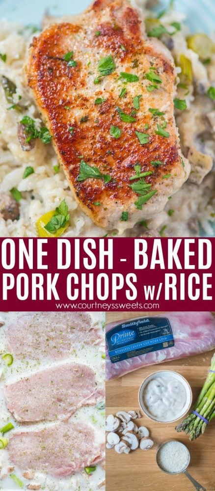 one dish baked pork chops