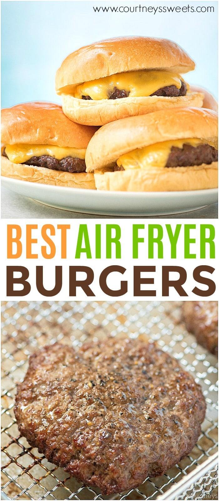 air fryer burgers recipe
