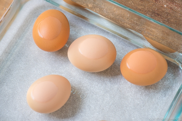 air fryer hard boiled eggs in water bath