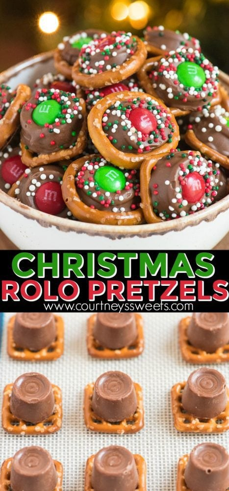 Rolo Pretzels with m&m candies